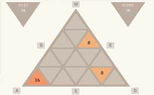Jeu 2048 Triangulaire