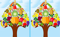 Jeu Arbre à légumes - Différences