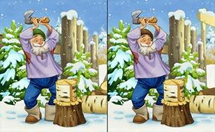 Jeu Différences - Un Noël chaleureux