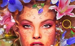 Jeu Fille des fleurs - Étoiles cachées