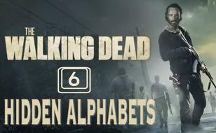 Jeu Lettres cachées - The Walking Dead 6