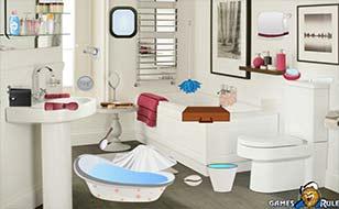Jeu Salle de bain en bordel - Objets cachés